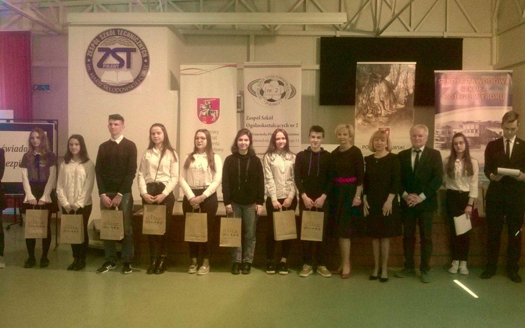 """Sukces naszej uczennicy w powiatowym konkursie """"Jestem świadomy – jestem bezpieczny"""""""