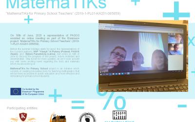 Mimo koronawirusa projekt Mathema TIKs for Primary School Teachers jest realizowany 😍